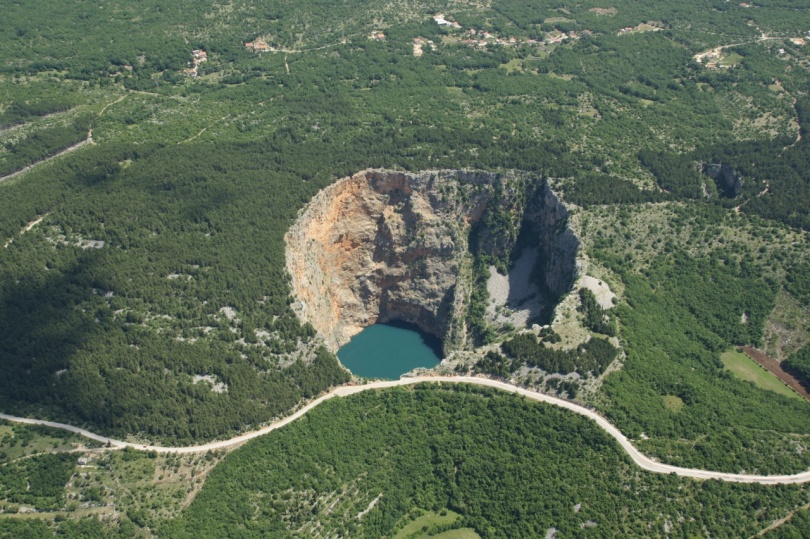 red lake arial view
