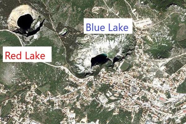 crveno i modro jezero