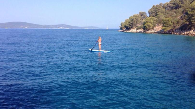 me paddle boarding