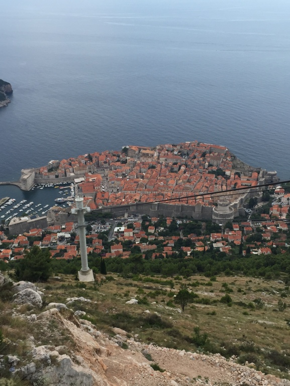 View of Dubrovnik From Cable Car. Summer Family Photo