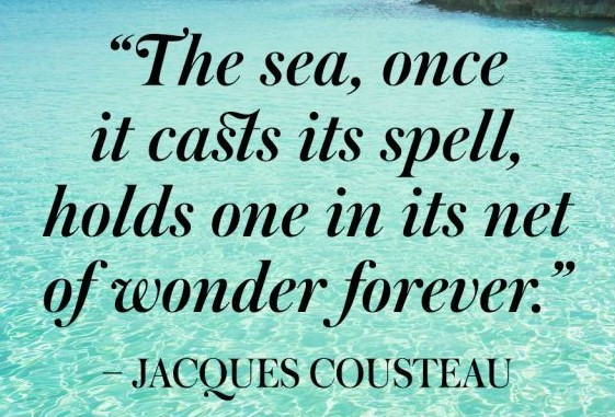 jacques cousteau sea quote